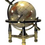 Unique-Art-6-Inch-Tall-Pearl-Swirl-Ocean-Mini-Table-Top-Gemstone-World-Globe-with-Gold-Tripod-0