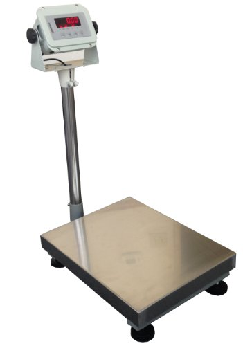 United-400lbsx002lbs-14×18-Platform-becnch-Shipping-Weight-Digital-Scale-Warehouse-Platform-Mailing-w-indicator-Industrial-Bench-Floor-0