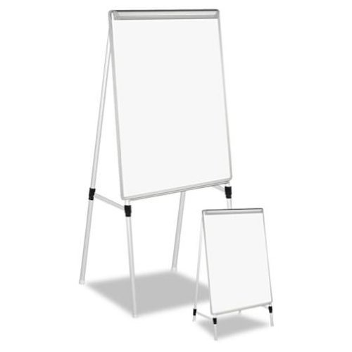 Universal-Adjustable-Dry-Erase-Easel-29-x-40-White-Board-Silver-Frame-0