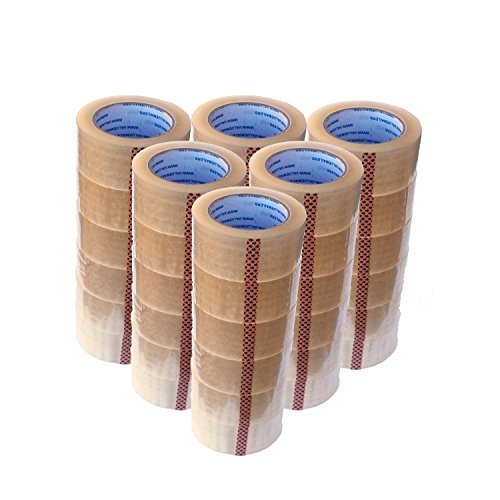 VALUEMAILERS-36-Rolls-Clear-Packaging-Packing-Sealing-Tape-2-Inches-Wide-X-330-Feet-20-Mil-0