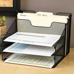 VANRA-Metal-Mesh-Desktop-File-Sorter-Organizer-Desk-Tray-Organize-with-3-Letter-Trays-and-2-Vertical-Upright-Sections-0