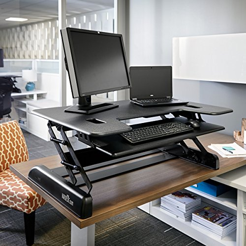 Varidesk Height Adjustable Big And Tall Standing Desk