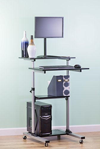 VIVO-Mobile-Height-Adjustable-Stand-Up-Desk-Computer-Work-Station-Rolling-Presentation-Cart-CART-V02D-0-1