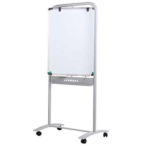 VIZ-PRO-Double-sided-Magnetic-Mobile-Whiteboard-Portrait-Orientation-Steel-Stand-0-0