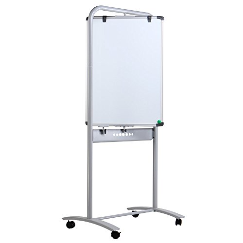 VIZ-PRO-Double-sided-Magnetic-Mobile-Whiteboard-Portrait-Orientation-Steel-Stand-0-1