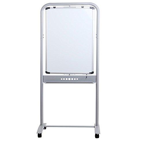 VIZ-PRO-Double-sided-Magnetic-Mobile-Whiteboard-Portrait-Orientation-Steel-Stand-0