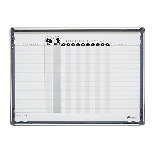 VIZ-PRO-Magnetic-Dry-Erase-Weeklymonthly-Planner-Silver-Aluminium-Frame-0-0
