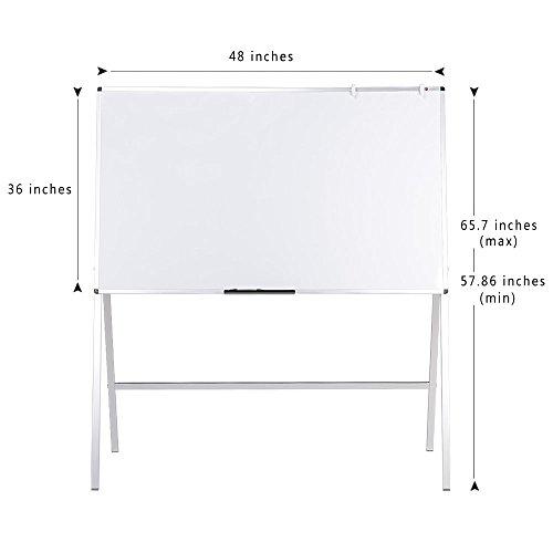 VIZ-PRO-Magnetic-H-Stand-Whiteboard-Adjustable-Dry-Erase-Easel-0-0