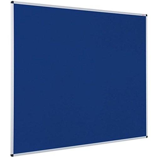 VIZ-PRO-Notice-Board-Felt-Blue-Silver-Aluminium-Frame-0