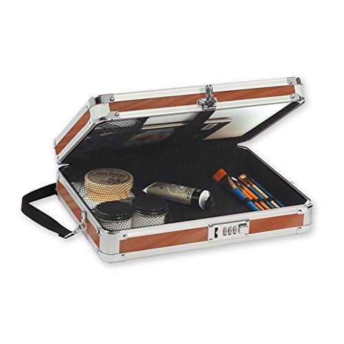 Vaultz-Locking-Wooden-Art-Case-Shoulder-Strap-13-x-10-x-325-inches-Brown-VZ03440-0-0