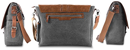 Vetelli-Laptop-Bag-Shoulder-Messenger-Bag-with-ScratchProtect-sleeve-for-Computers-up-to-156-Leather-Canvas-A-bigger-bag-195-x-125-x-45-0-0