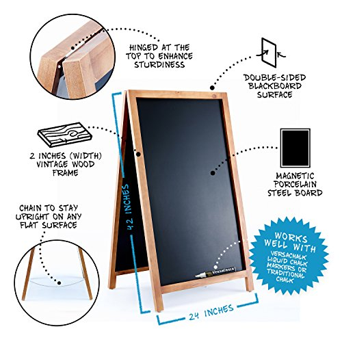 Vintage-Wooden-Magnetic-A-Frame-Chalkboard-42×24-Restaurant-Bar-Sign-Indoor-Outdoor-by-VersaChalk-0-0
