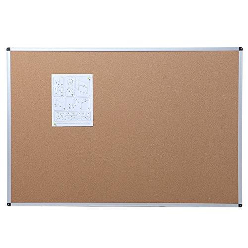 Viz-pro-Cork-Notice-Board-24-X-18-Inches-Silver-Aluminium-Frame-0