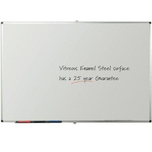 Viz-pro-Porcelain-Magnetic-Dry-erase-Whiteboard-Silver-Aluminiuim-Frame-0-0