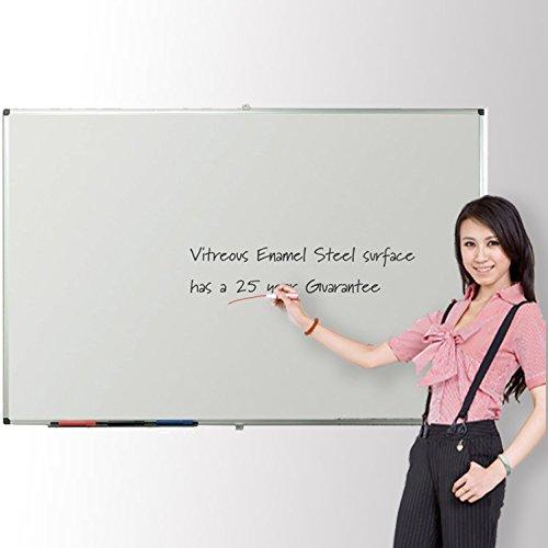 Viz-pro-Porcelain-Magnetic-Dry-erase-Whiteboard-Silver-Aluminiuim-Frame-0
