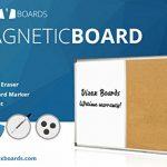 Vizex-Magnetic-Dry-Erase-Cork-Board-Combination-0
