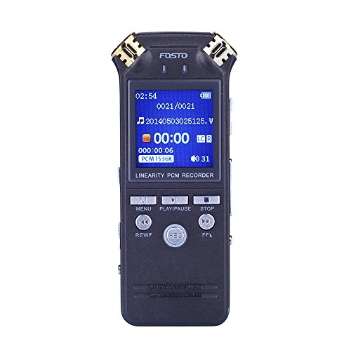 Voice-RecorderFOSTO-Rechargeable-8GB-Digital-Voice-Recorder-MP3-Music-Player-Auto-Record-VOC-Voice-Control-for-InterviewMeetinglecturesConferences-ConcertsClassSpeechLawyers-Evidence-0