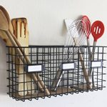 Wall-Mounted-Three-Compartment-Mail-Basket-Letter-Holder-Black-Metal-0-1