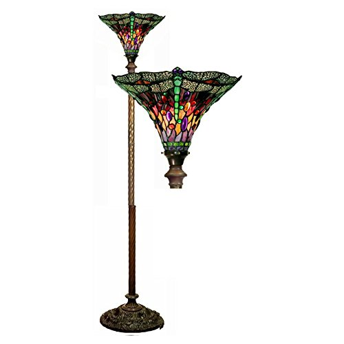 Warehouse-of-Tiffany-Dragonfly-Red-and-Purple-Torchiere-0