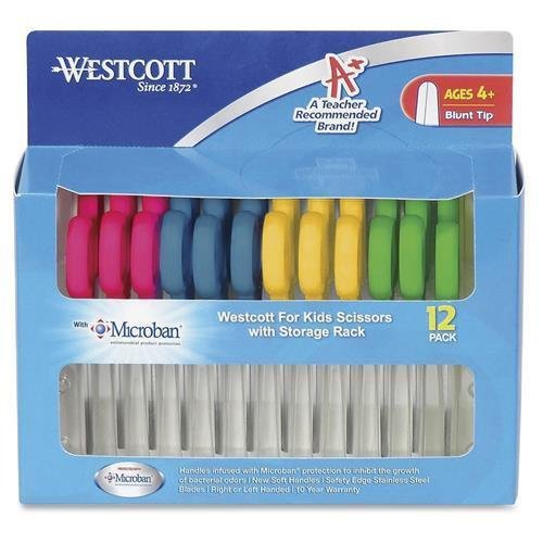 Westcott-Scissors-w-MicrobanBlunt-12PK-14606-AST-14871-0