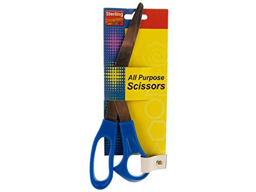 Wholesale-8-Blue-All-Purpose-Scissors-Set-of-144-School-Office-Supplies-Scissors-0