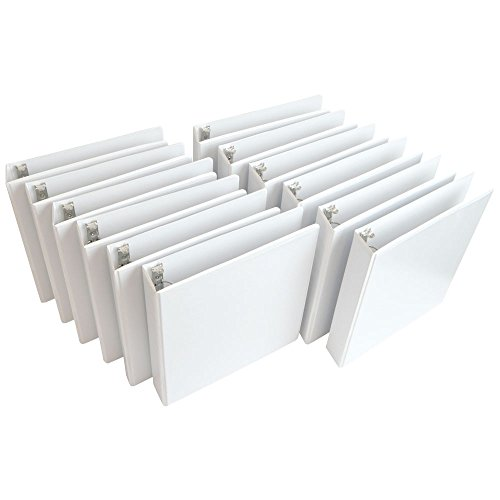 Wilson-Jones-Round-Ring-View-Binder-1-Inch-Basic-Customizable-White-12-Pack-W362-14WPK-0-0