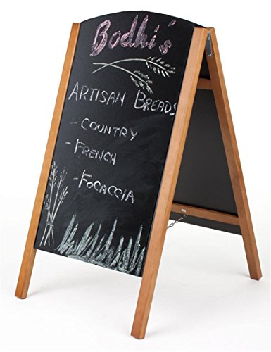 Wood-A-Frame-Chalkboard-Sidewalk-Sign-for-Wet-Erase-and-Traditional-Stick-Chalk-21-x-34-Boards-Slide-Out-for-Easy-Updating-0-1