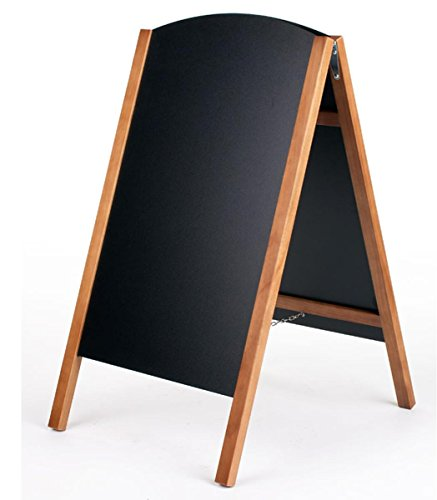 Wood-A-Frame-Chalkboard-Sidewalk-Sign-for-Wet-Erase-and-Traditional-Stick-Chalk-21-x-34-Boards-Slide-Out-for-Easy-Updating-0