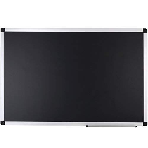 XBoard-Large-Magnetic-Blackboard-36-x-24-inches-Wall-Mounted-Chalkboard-with-Aluminum-Frame-and-Chalk-Tray-0-0