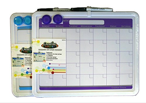 YDB-11-X-14-in-Dry-Erase-Magnetic-Calendar-Board-with-Magnets-Plus-Marker-Plus-Mounting-Hardware44-Blue-Purple-0