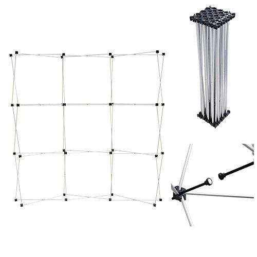 Yescom-8ft-Magnetic-Pop-Up-Trade-Show-Exhibit-Display-Booth-Curved-Velcro-Fabric-Trolley-Case-Kit-w-Spotlight-0-0