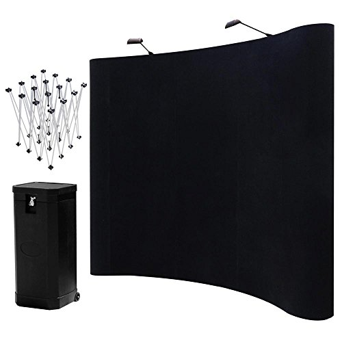 Yescom-8ft-Magnetic-Pop-Up-Trade-Show-Exhibit-Display-Booth-Curved-Velcro-Fabric-Trolley-Case-Kit-w-Spotlight-0