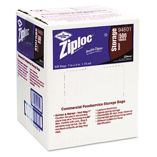 Ziploc-Double-Zipper-Bags-Plastic-1qt-Clear-Write-On-ID-Panel-Includes-500-double-zipper-bags-0