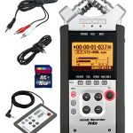 Zoom-H4n-Handy-Mobile-4-Track-Recorder-Bundle-w16GB-Class-10-SDHC-Card-Stereo-35mm-Mini-Phono-Male-to-Two-RCA-Males-Y-Cable-35mm-to-35mm-Stereo-Output-Cable-Zoom-RC-4-Remote-Control-0