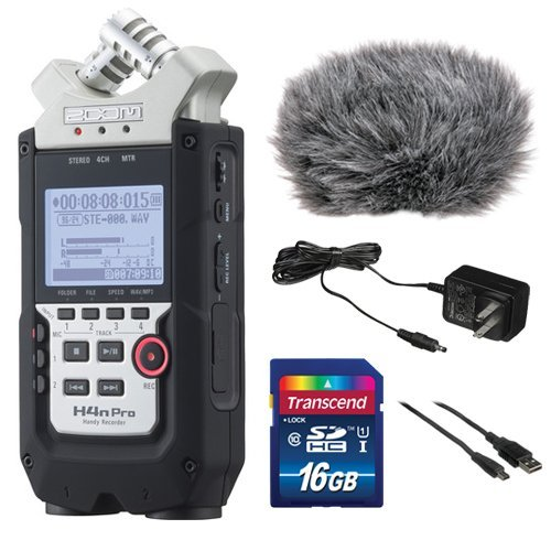 Zoom-H4n-Pro-4-Channel-Handy-Recorder-Bundle-with-Custom-Windbuster-for-Zoom-H4n-AC-Adapter-A-Male-to-Type-B-Mini-Male-Cable-6-and-16GB-SD-Card-0