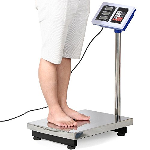 go2buy-Silver-Digital-Platform-Scale-660lbs-Max-Weight-for-Postal-Industry-Pet-Weighing-0-0