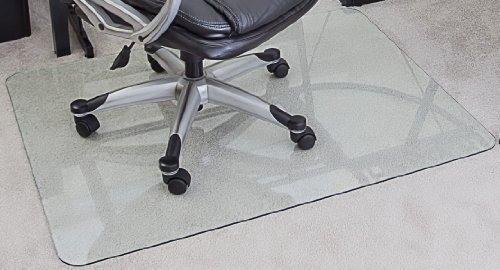 Myglassmat 36 X 48 Inch Tempered Glass Chair Mat For Carpet And Hard