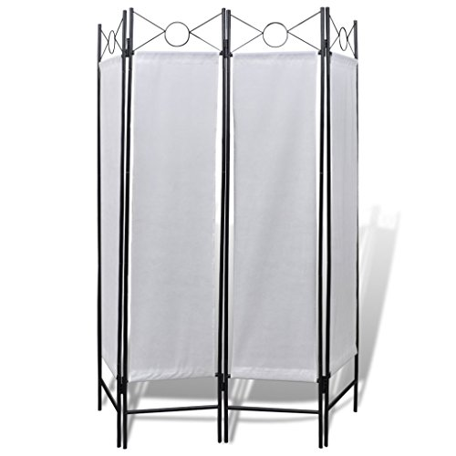 vidaXL-4-Panel-Room-Divider-Privacy-Folding-Screen-White-5-3-x-11-0-0