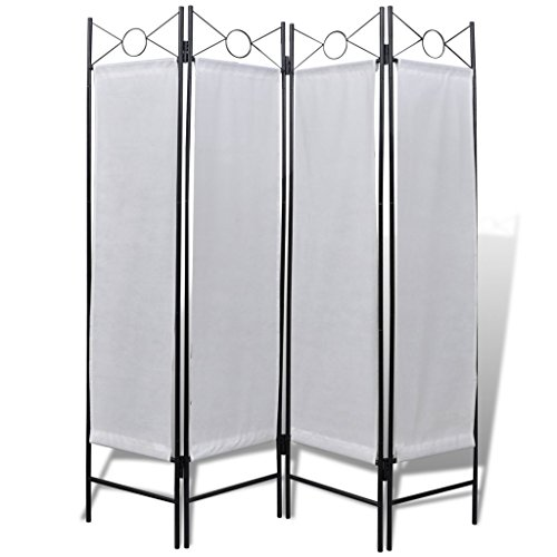 vidaXL-4-Panel-Room-Divider-Privacy-Folding-Screen-White-5-3-x-11-0