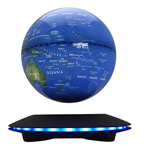woodlev-Maglev-Magnetic-Levitation-Levitron-Floating-Rotating-Wireless-Transmission-Touch-Control-Three-Gears-6-Blue-Globe-Black-Platform-LED-Adjustment-Home-Decor-0