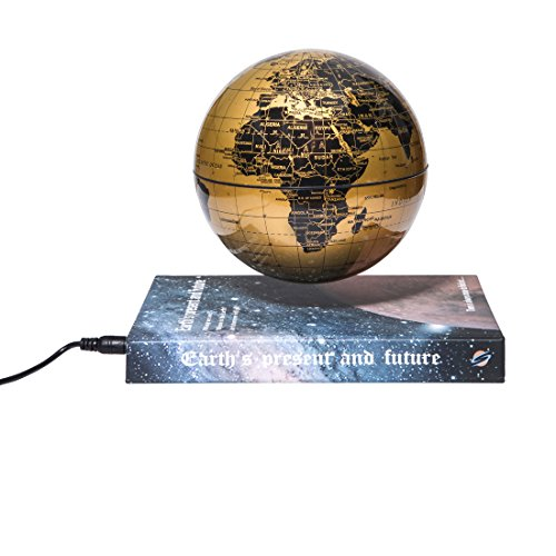 woodlev-Magnetic-Maglev-Levitation-Levitron-Floating-Rotating-6-Globe-Gold-Blue-Book-Style-Platform-Learning-Education-Home-Decor-0-1