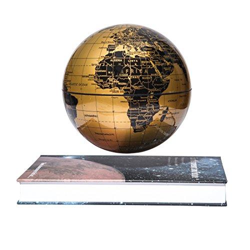 woodlev-Magnetic-Maglev-Levitation-Levitron-Floating-Rotating-6-Globe-Gold-Blue-Book-Style-Platform-Learning-Education-Home-Decor-0